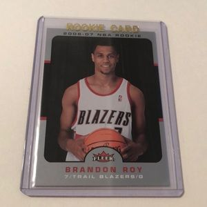 2006-07 Fleer Brandon Roy Blazers NBA Rookie Card